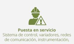 puesta-en-servicio sistema de control