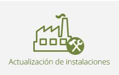 actualización de instalaciones