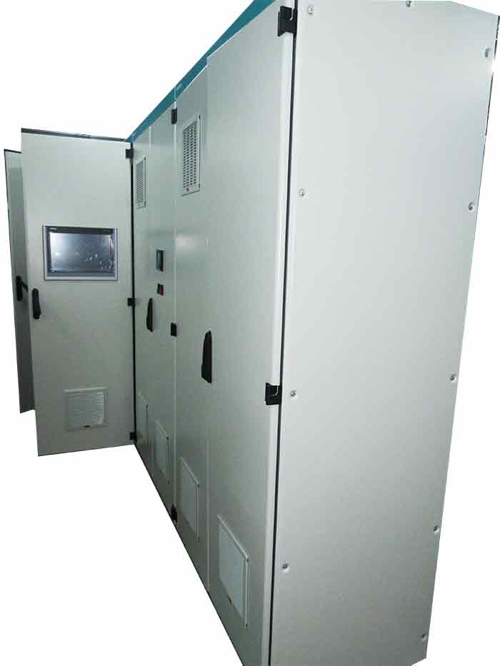 Electrical cabinets for an industrial freezing system